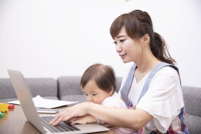 在宅勤務のワーママ